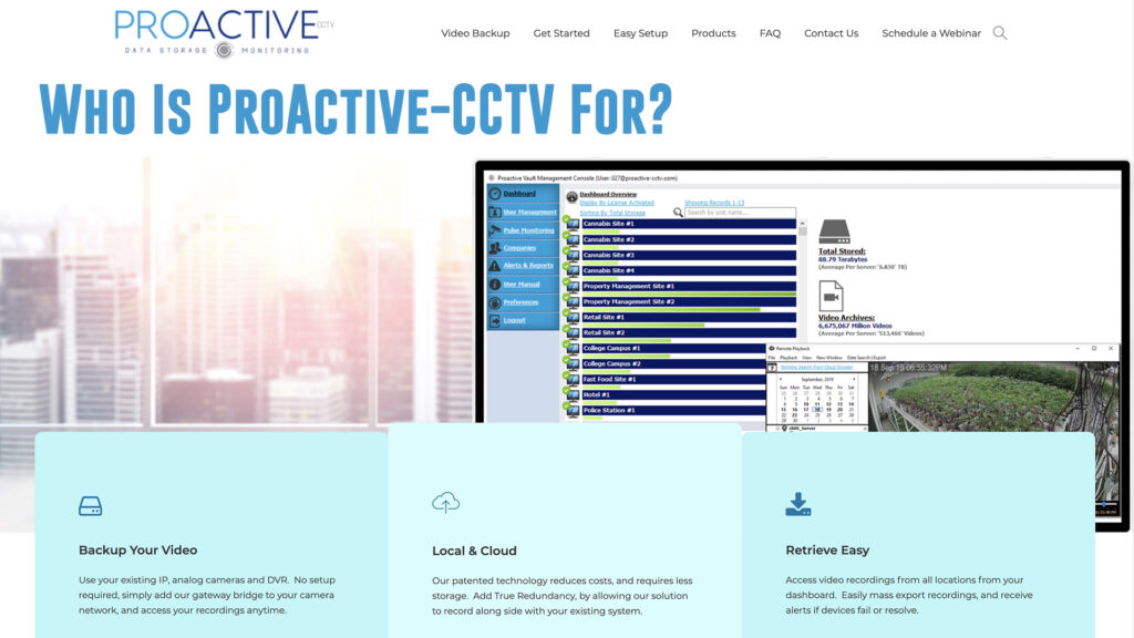 Who Is ProActive CCTV Video Backup For